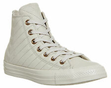 Mens Converse All Star Hi Leather PARCHMENT ROSE QUILTED Trainers Shoes