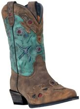 "Dan Post Toddler & Youth Boy's Vintage Bluebird 9"" Western Boots Teal DPC3151"