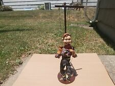 """VINTAGE HOWDY DOODY DOLL WOODEN MARIONETTE STAND & BASE """"NICE"""""""