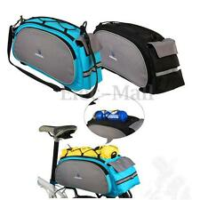 Cycling Bicycle Bike Seat Shoulder Bag Rear Tail Trunk Rack Pannier Handbag Pack