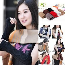 Women Warmer Winter Long Elbow Knitted Wrist Arm Hand Warmer Fingerless Gloves