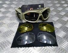 Genuine British Army Issue Revision Bullet Ant Ballistic Goggles - Black or Sand