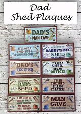 CHRISTMAS GIFT- SHED WOODEN HANGING PLAQUE NOVELTY GIFT FOR DAD, GRANDAD, UNCLE