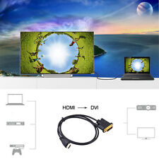 1/2/3/5M 1080P HDMI Male to DVI-D Cable 24+1 Pin Lead Gold Adapter HD TV Lot