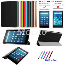 "Slim Leather+PC Case Folio Cover Stand For Amazon Kindle Fire HD 8 8.0"" 2016 NEW"