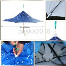 Outdoor Folding Umbrella Hat Head Cap for Fishing Camping Hiking Golf Hand Free