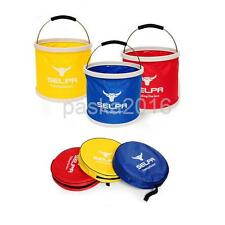 11L Camping BBQ Fishing Collapsible Bucket Foldable Water Pail Car Storage + Bag