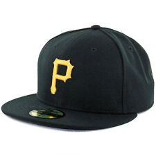 New Era 59Fifty Pittsburgh Pirates Game Black Fitted Cap MLB AC On Field Hat