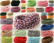 Colorful Twisted Cotton Rope Bakers Twine Cord Cards Crafts Wrapping ScrapBook