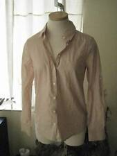 Forever 21 Essentials Woven Shirt Cotton Beige Pink w/adjustable sleeves S/P NWT