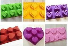 Multi-style Heart Silicone Mould for Cake Soap Mold Candy Chocolate Fondant Fimo