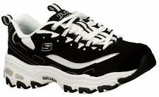Skechers Black/W Dlites Women Sport Running Shoes Trainers Sneakers  All Sizes~
