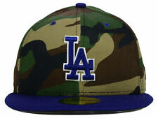 Official MLB Los Angeles Dodgers Camo Pop Team Hat New Era 59Fifty Fitted Cap