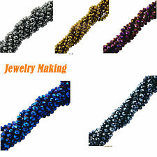 70pcs 6x8mm Craft Faceted Rondelle Crystal Glass Beads Jewellery Making DIY