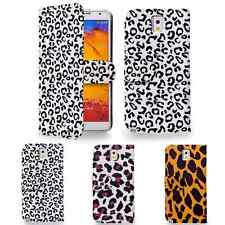 Leopard Print PU Leather Wallet Case Cover For Samsung Galaxy Note 3