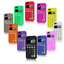 iPhone 5 Casio Calculator Design Silicone Case Cover + Free Screen Protector