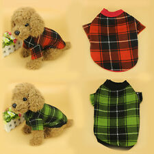 Costume Pet Dog Grid Clothes Coat Puppy Hoodie Cat Sweater Cotton Apparel Jacket