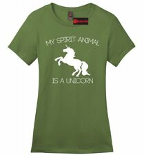 My Spirit Animal Is A Unicorn Funny Ladies SFT T Shirt Unicorn Lover Gift Tee Z4