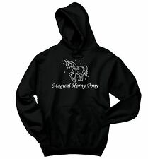 Magical Horny Pony Funny Sweatshirt Unicorn Horse Lover Gift Hoodie