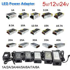 AC100-240V DC 5V 12V 24V Power Supply Transformer For 5050 LED Strip 1A 2A 5A10A