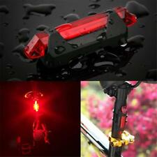USB Rechargeable Cycling Bike Tail Light LED Rear Safety Warning Bicycle Lamp