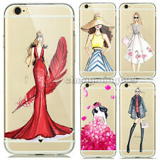 Ultra Thin Fashion Girl Soft TPU Gel Clear Rubber Case Cover For SE 5 6 7 Plus