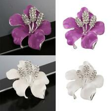 Chic Crystal Rhinestone Flower Bouquet Collar Brooch Pin Wedding Party Jewelry