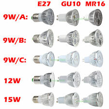 Energy Saving Dimmable GU10 E27 MR16 9W 12W 15W LED Spot Down Light Bulbs Lamp