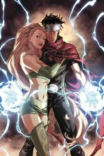 Marvel Dark Reign: Young Avengers No.4 Cover: Wiccan and Enchantress Poster