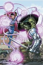 Marvel World War Hulk No.4 Cover: Hulk and Dr. Strange Poster