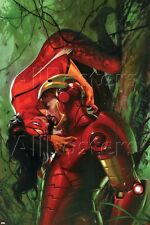Marvel Secret Invasion No.3 Cover: Iron Man and Spider Woman Poster