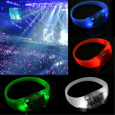 Button Activated Flashing Bracelet LED Bright Wristband  Hot 7 Colors CATS