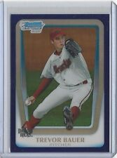 TREVOR BAUER 2011 Bowman Chrome PURPLE ROOKIE REFRACTOR RC #BDPP9 Indians