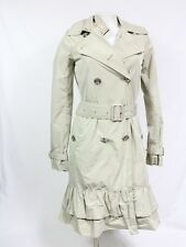 Burberry trench coat size 2 beige belted newdale ruffle