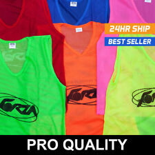 FORZA Soccer Pinnies | Fluorescent Scrimmage Vests | Pack of 15