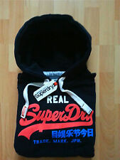 SUPERDRY MENS HOODIE WITH LOGO TO CHEST HOODY NAVY JACKET BNWT RRP £49.99