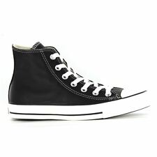 Converse Chuck Taylor All Star Hi Black Leather Womens Trainers