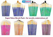 SABLE CAMEL HOG TAKLON ARTIST ROYAL BRUSH SETS OIL WATERCOLOUR ACRYLIC PAINT SVP