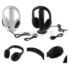 Wireless Headset Headphone Earphone With Mic FM/RF Function for TV PC DVD VCD