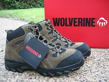 NEW Mens Wolverine Brighton Brown Black Leather Steel Toe EH  Work Boots W04624