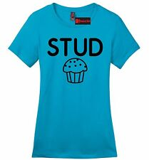 Stud Muffin Funny Ladies Soft T Shirt Cute Holiday Gift College Tee Shirt Z4