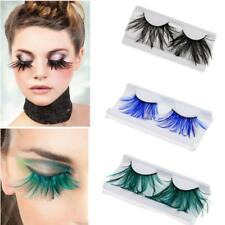 Pair of Halloween Feather Eyelashes False Fake Eyelashes Stage Party Fancy Dress