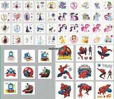 60-100 Frozen My Little Pony Spiderman Thomas Temporary Tattoos Party Favors