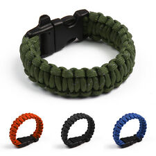 Reflective Rope Bracelet with Whistle Outdoor Rope Paracord Survival Gear Kits