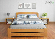 New Solid Wooden Pine Small Double Bedframe Option Drawer/Bedside Alder Finish