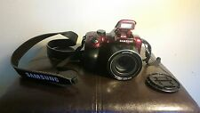Samsung WB Series WB1100F 16.4 MP Digital Camera - Red