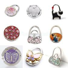 Folding Rhinestone Purse Bag Support Hanger Handbag Table Table Hook Holder