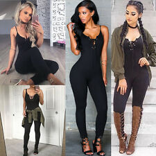 1PCS Sexy Women's Lacing Up Hollow Out Long Jumpsutis Bodycon  Playsuits Rompers