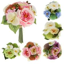 Artificial Peony Orchid Bouquet Silk Flower Plant Wedding Party XmasGarden Decor