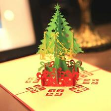 3D Pop Up Christmas Tree Holiday Greeting Birthday Thanksgiving Day Card Gift